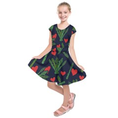 Asparagus Lover Kids  Short Sleeve Dress by BubbSnugg