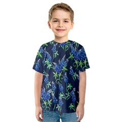 Bluebonnets Kids  Sport Mesh Tee by BubbSnugg