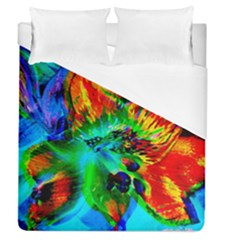 Flowers With Color Kick 2 Duvet Cover (queen Size) by MoreColorsinLife
