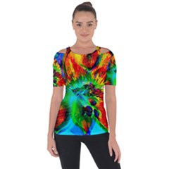 Flowers With Color Kick 2 Short Sleeve Top