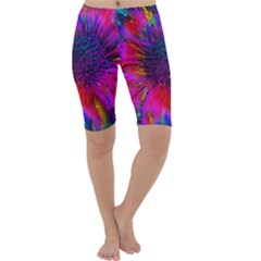 Flowers With Color Kick 3 Cropped Leggings