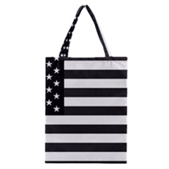 Flag Of Usa Black Classic Tote Bag by amphoto