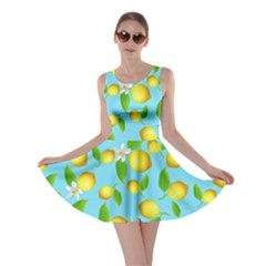 Lemon Pattern Skater Dress