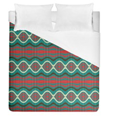 Ethnic Geometric Pattern Duvet Cover (queen Size) by linceazul
