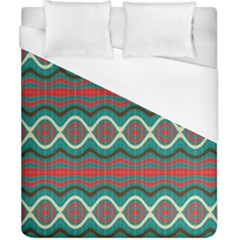 Ethnic Geometric Pattern Duvet Cover (california King Size) by linceazul