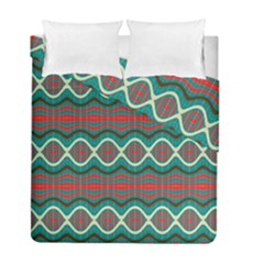 Ethnic Geometric Pattern Duvet Cover Double Side (full/ Double Size) by linceazul