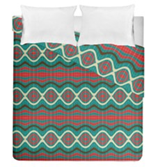 Ethnic Geometric Pattern Duvet Cover Double Side (queen Size) by linceazul