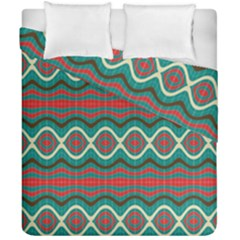 Ethnic Geometric Pattern Duvet Cover Double Side (california King Size) by linceazul