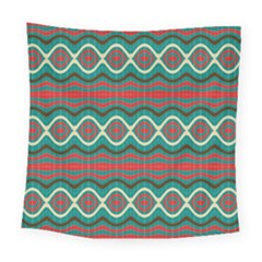 Ethnic Geometric Pattern Square Tapestry (large) by linceazul