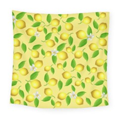 Lemon Pattern Square Tapestry (large) by Valentinaart