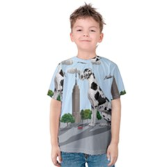 Great Dane Kids  Cotton Tee by Valentinaart