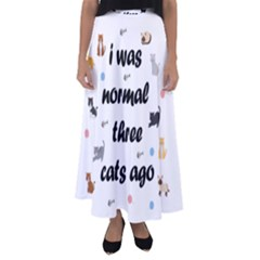 I Was Normal Three Cats Ago Flared Maxi Skirt