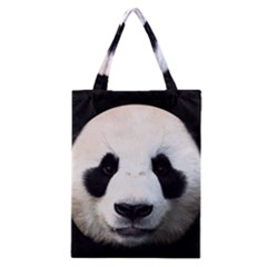 Panda Face Classic Tote Bag by Valentinaart