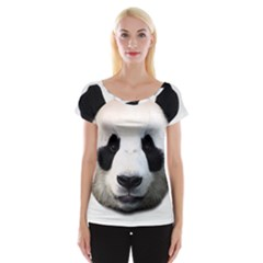 Panda Face Cap Sleeve Tops
