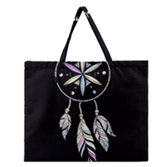 Dreamcatcher  Zipper Large Tote Bag by Valentinaart