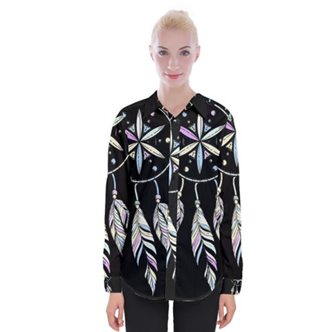 Dreamcatcher  Womens Long Sleeve Shirt by Valentinaart