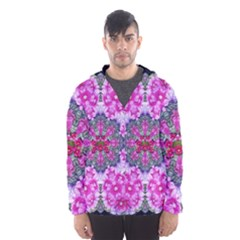 Fantasy Cherry Flower Mandala Pop Art Hooded Wind Breaker (men) by pepitasart