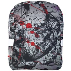 Black & Red Mess Full Print Backpack by amphoto