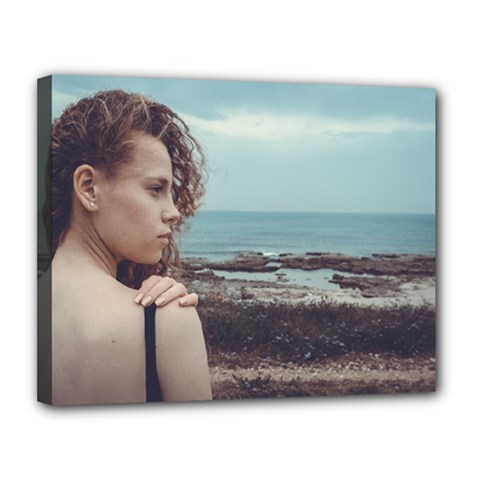 Girl & The Sea Canvas 14  X 11  by amphoto