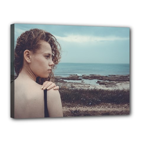 Girl & The Sea Canvas 16  X 12  by amphoto