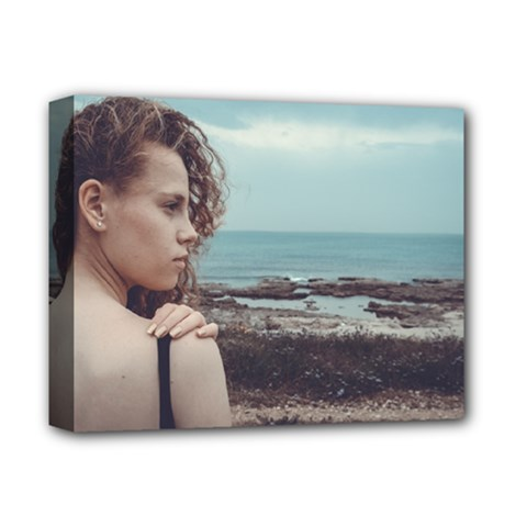 Girl & The Sea Deluxe Canvas 14  X 11  by amphoto
