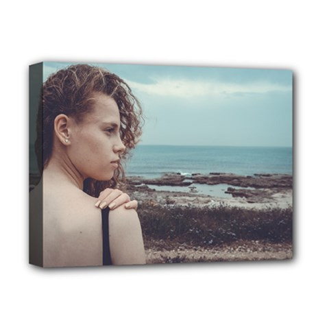 Girl & The Sea Deluxe Canvas 16  X 12   by amphoto