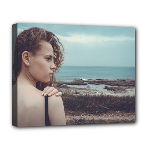 Girl & The Sea Deluxe Canvas 20  X 16   by amphoto