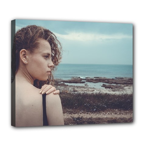 Girl & The Sea Deluxe Canvas 24  X 20   by amphoto