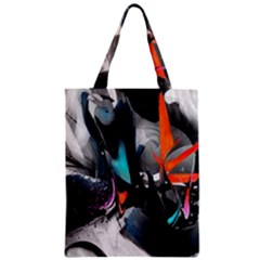 Lines Spray Brush Paint Color  Zipper Classic Tote Bag by amphoto