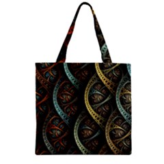 Line Semi Circle Background Patterns  Zipper Grocery Tote Bag by amphoto