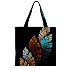 Sheet Shape Shadow  Zipper Grocery Tote Bag by amphoto