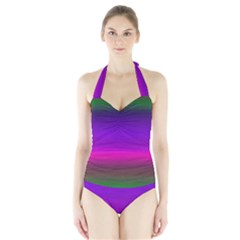 Ombre Halter Swimsuit by ValentinaDesign