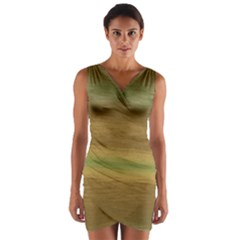 Ombre Wrap Front Bodycon Dress by ValentinaDesign
