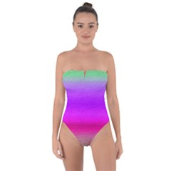 Ombre Tie Back One Piece Swimsuit