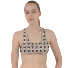 Native American Pattern Criss Cross Racerback Sports Bra by linceazul