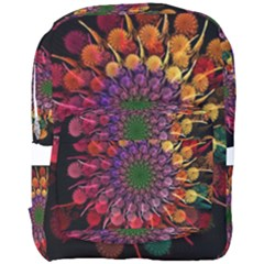 Rainbow Flower Spiral Fractal Full Print Backpack