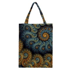 Spiral Background Patterns Lines Woven Rotation Classic Tote Bag by amphoto