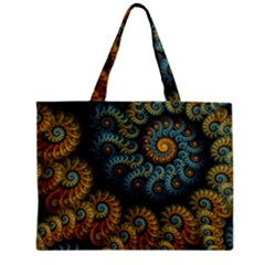 Spiral Background Patterns Lines Woven Rotation Zipper Mini Tote Bag