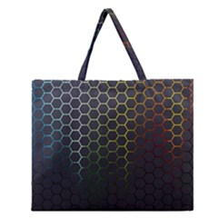 Abstract Resize Zipper Large Tote Bag by amphoto