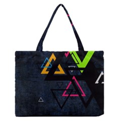 Abstract Triangles Resize Zipper Medium Tote Bag by amphoto