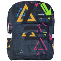 Abstract Triangles Resize Full Print Backpack by amphoto