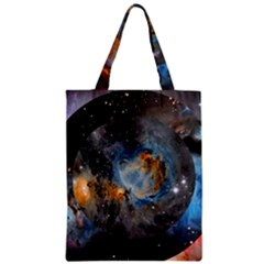Abstract Abstract Space Resize Zipper Classic Tote Bag by amphoto