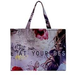 Graffiti Zipper Mini Tote Bag by amphoto