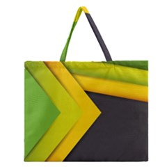 Abstraction Lines Stripes Zipper Large Tote Bag by amphoto