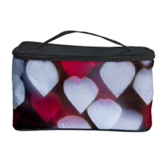 Highlights Hearts Texture  Cosmetic Storage Case by amphoto