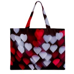 Highlights Hearts Texture  Zipper Mini Tote Bag by amphoto