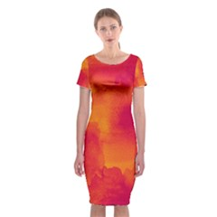 Ombre Classic Short Sleeve Midi Dress by ValentinaDesign