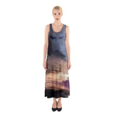 Texture Background Color Style Sleeveless Maxi Dress by amphoto