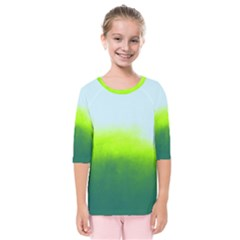 Ombre Kids  Quarter Sleeve Raglan Tee by ValentinaDesign