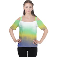 Ombre Cutout Shoulder Tee